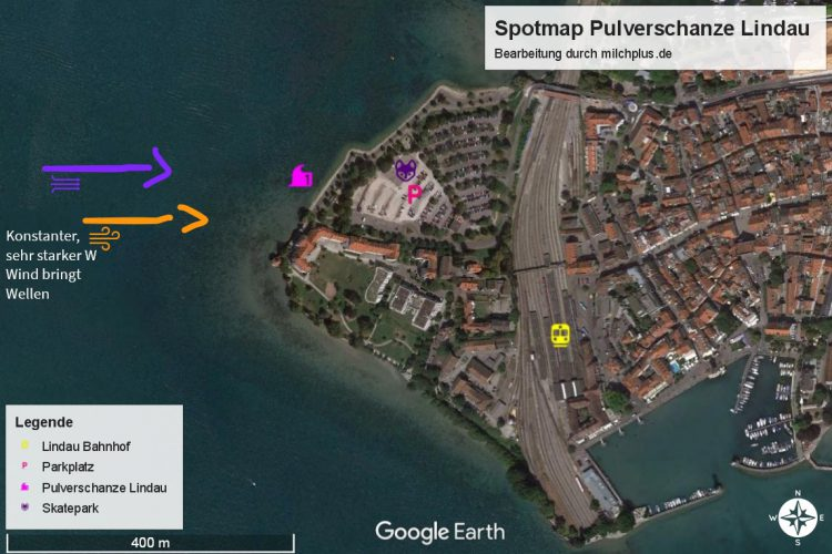 Surfen in Deutschland: Spotmap Pulverschanze Lindau