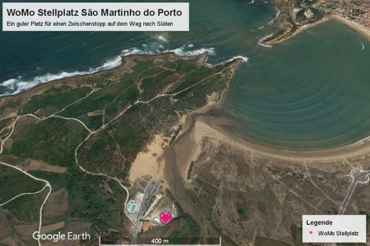 Surfen in Nazaré: Der WoMo Stellplatz in Sao Martinho do Porto